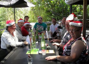 Christmas party at Over the Hedge café